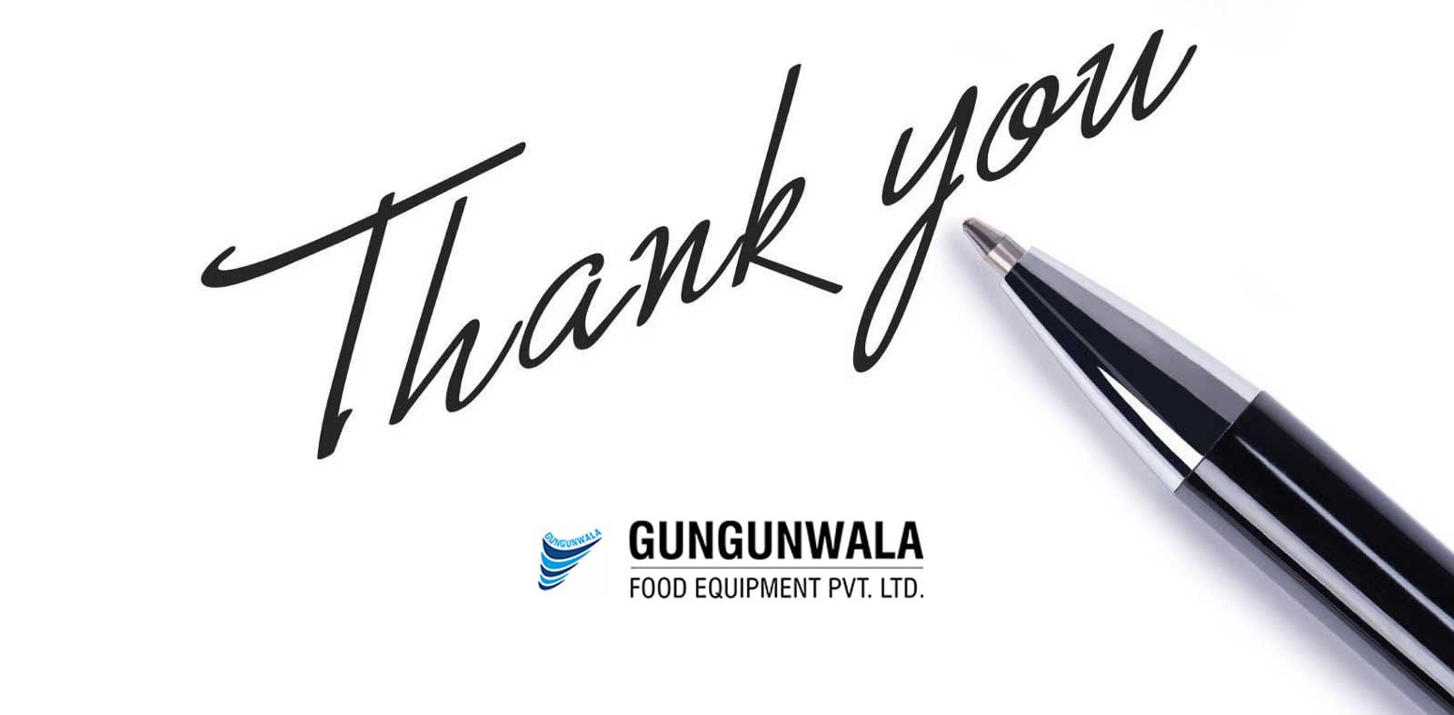 Thank You - Gungunwala Food Processing Equipment