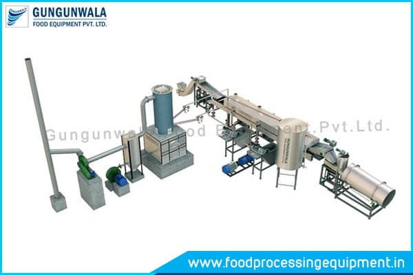 Semi Automatic Chips Frying Line Manufacturers in India