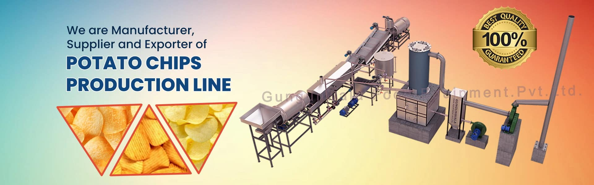 Potato Chips Production Line Manufacturer, Supplier & Exporter in Ahmedabad, Gujarat, India
